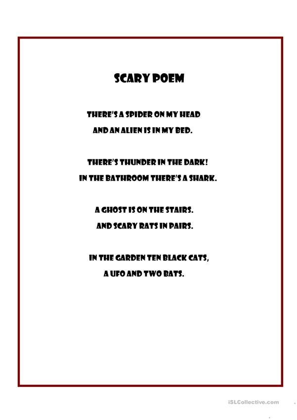 Scary poem
