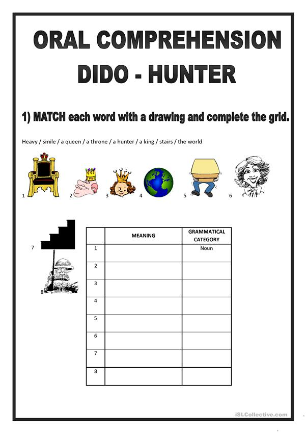 SONG DIDO HUNTER -  ORAL COMPREHENSION