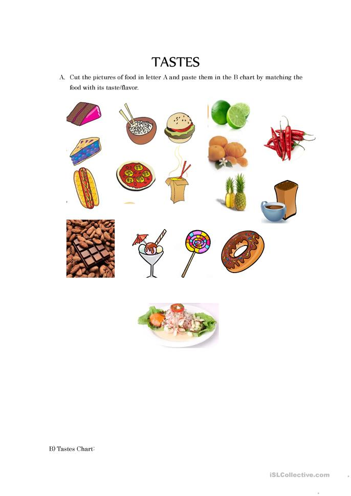 worksheet : 18 free esl taste worksheets : Sense Of Taste Worksheet ...