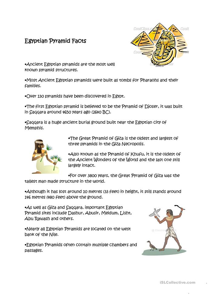 egyptian pyramids facts worksheet free esl printable worksheets made by teachers. Black Bedroom Furniture Sets. Home Design Ideas