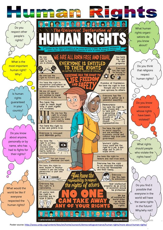 Printables Racism Worksheets 50 000 free esl efl worksheets made by teachers for human rights day december 10