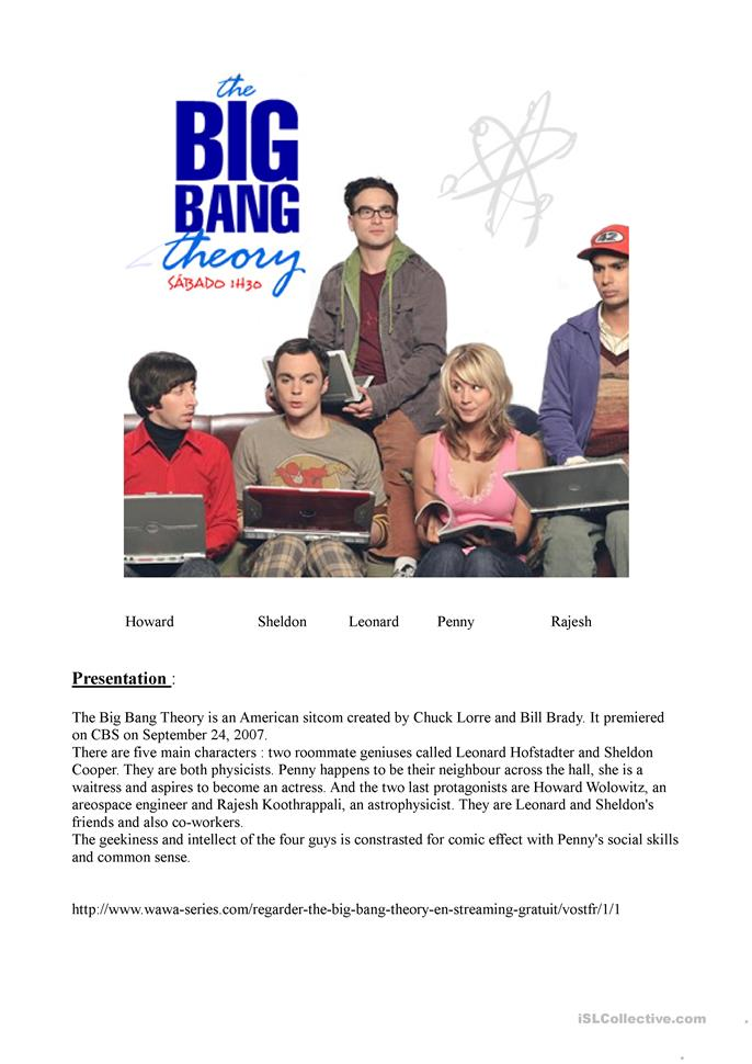 the big bang theory episode 1 season 1 worksheet free esl printable worksheets made by teachers. Black Bedroom Furniture Sets. Home Design Ideas
