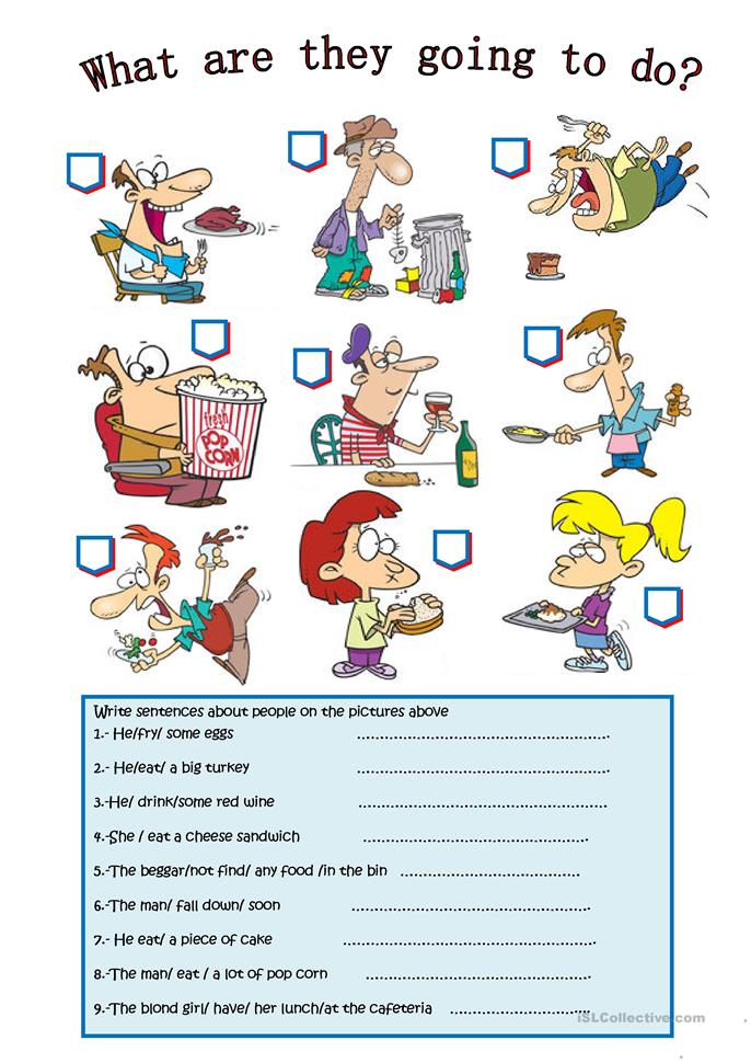 WHAT ARE THEY GOING TO DO? worksheet - Free ESL printable