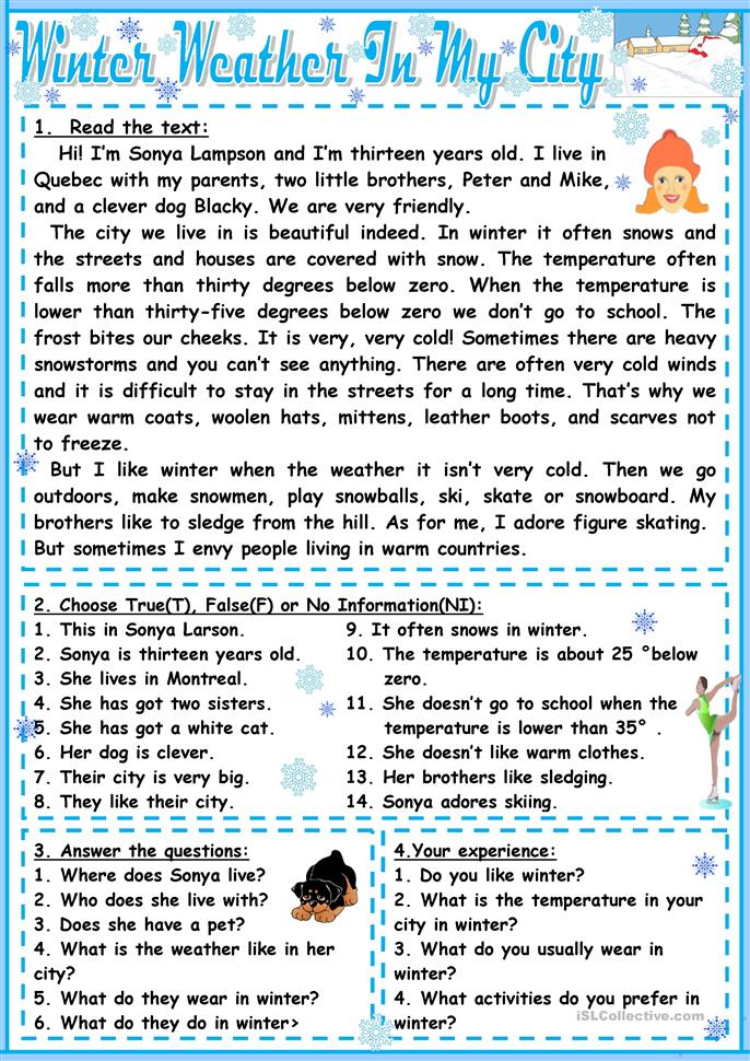 winter weather in my city worksheet free esl printable worksheets made by teachers. Black Bedroom Furniture Sets. Home Design Ideas