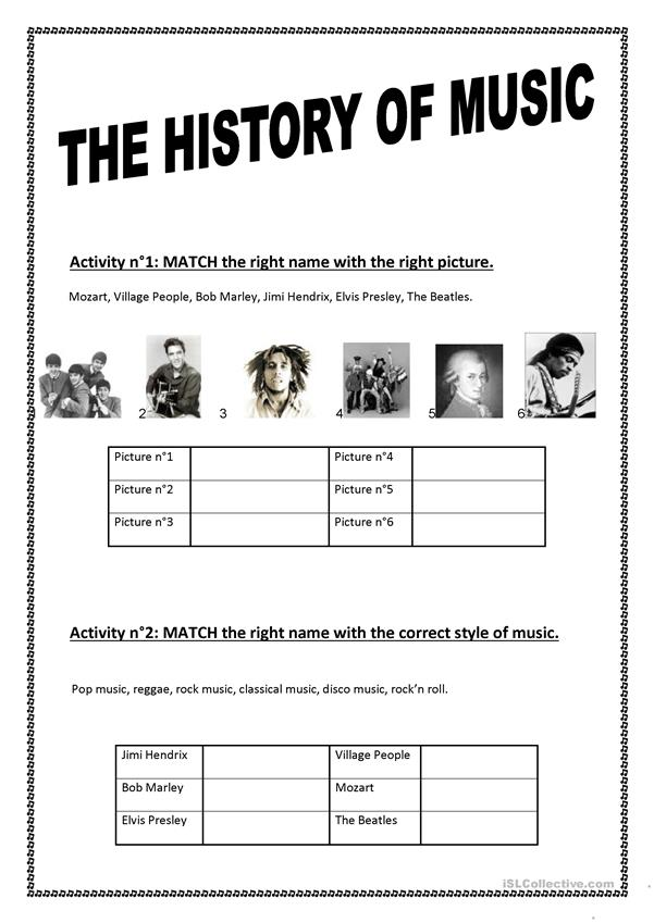 It is an image of Canny Free Printable Music Worksheets