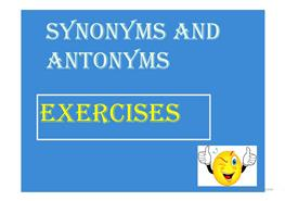9 free esl synonyms powerpoint presentations exercises synonyms and antonyms exercises solutioingenieria Choice Image