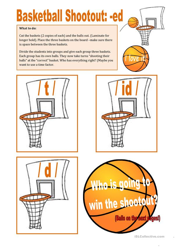 Baskeball Shootout about -ed (2nd part)