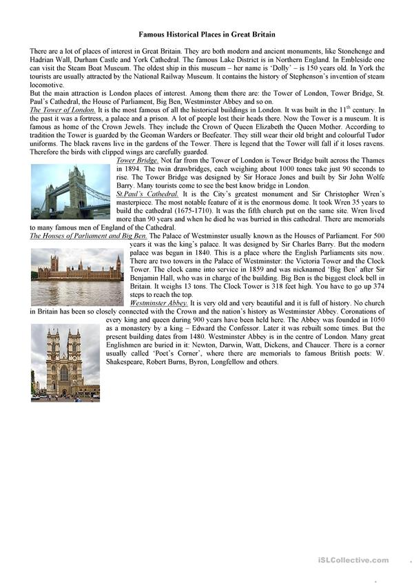 Famous Historical Places in Great Britain