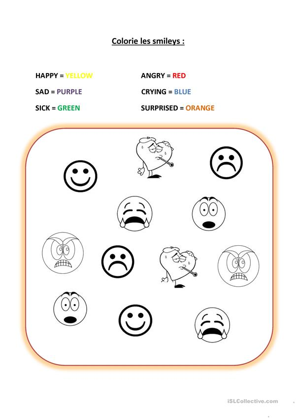 Feelings moods emotions smileys