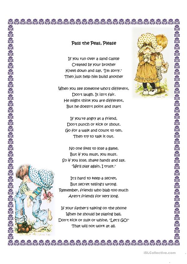 Manners poems