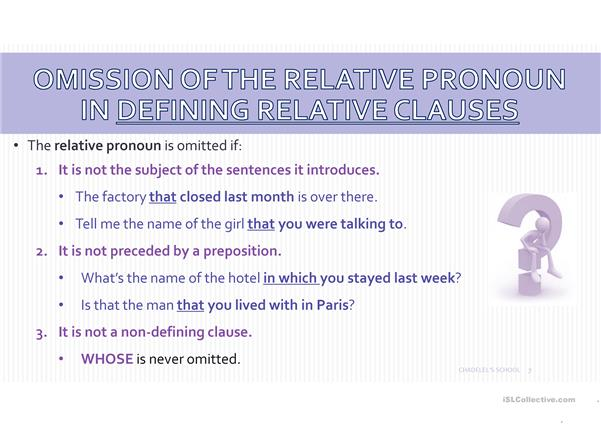Relative Clauses powerpoint explanation