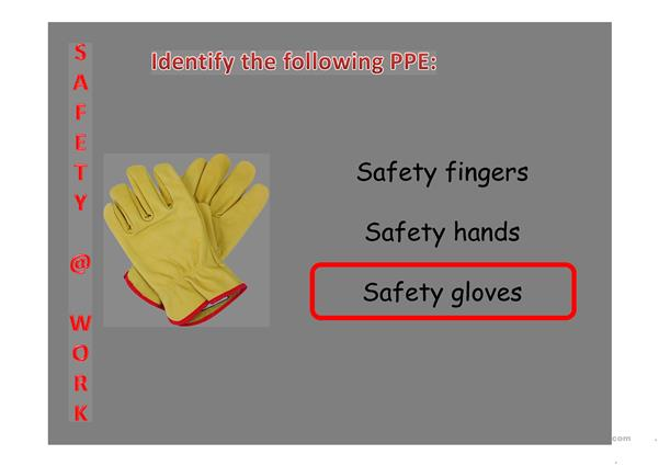 Safety at work - PPE