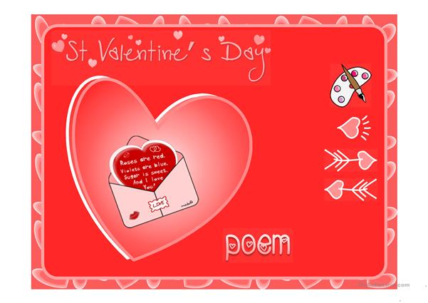 St Valentine's Day vocabulary *with sound*