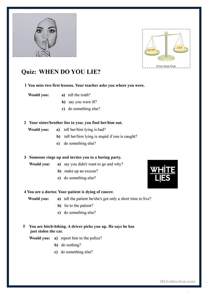 who what when where why worksheets when do you lie worksheet free esl printable worksheets 772