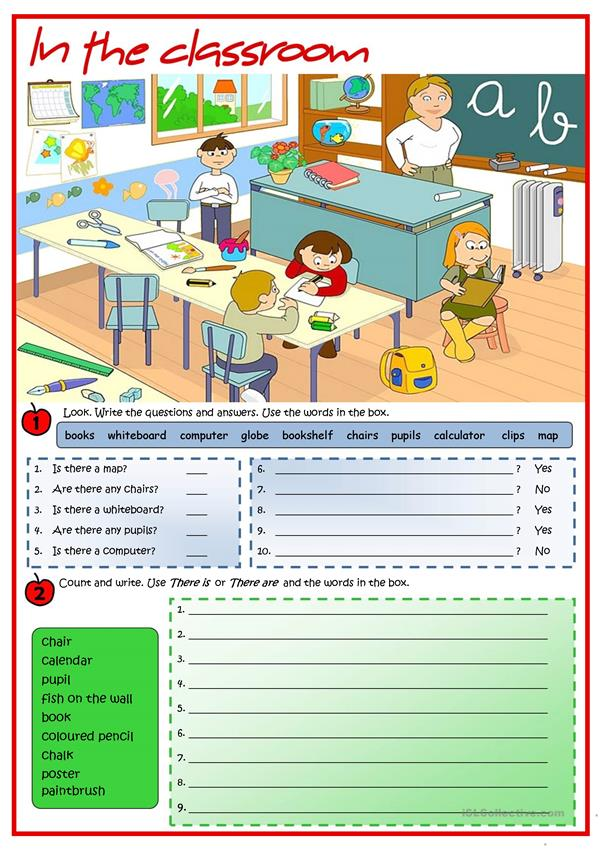 in the classroom there is there are worksheet free esl printable worksheets made by teachers. Black Bedroom Furniture Sets. Home Design Ideas
