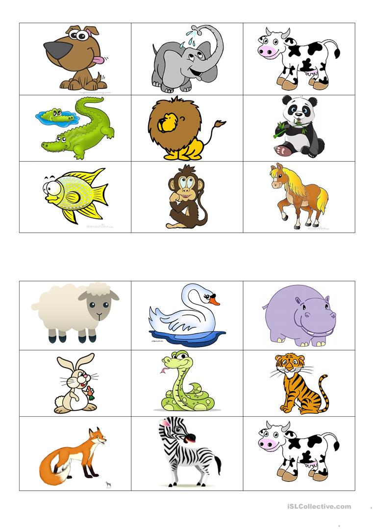photograph about Animal Cards Printable called Pets bingo playing cards - English ESL Worksheets