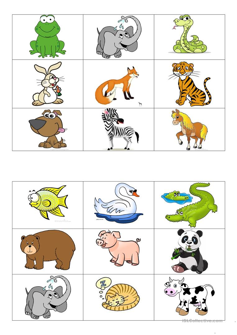 Célèbre Animals bingo cards worksheet - Free ESL printable worksheets made  CU75