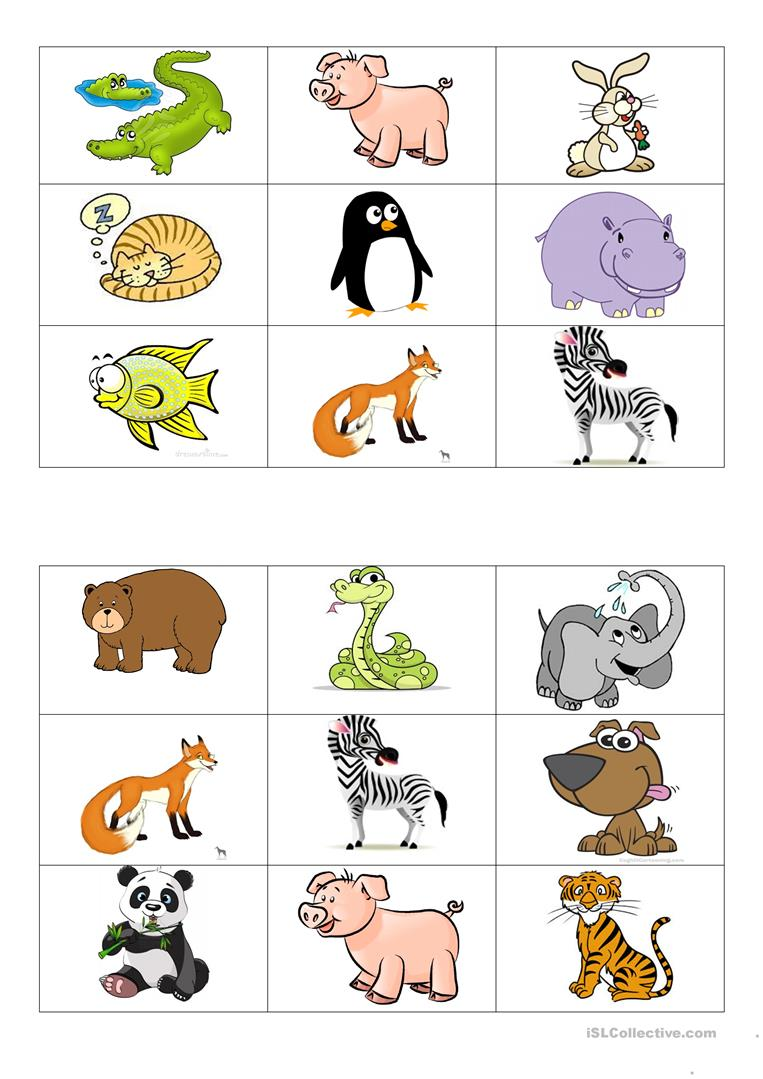 Souvent Animals bingo cards worksheet - Free ESL printable worksheets made  NH97