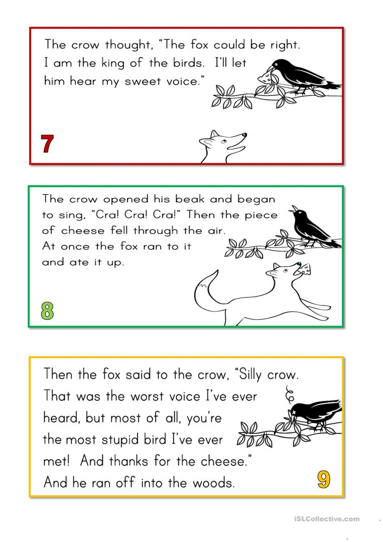 the fox and the crow - English ESL Worksheets