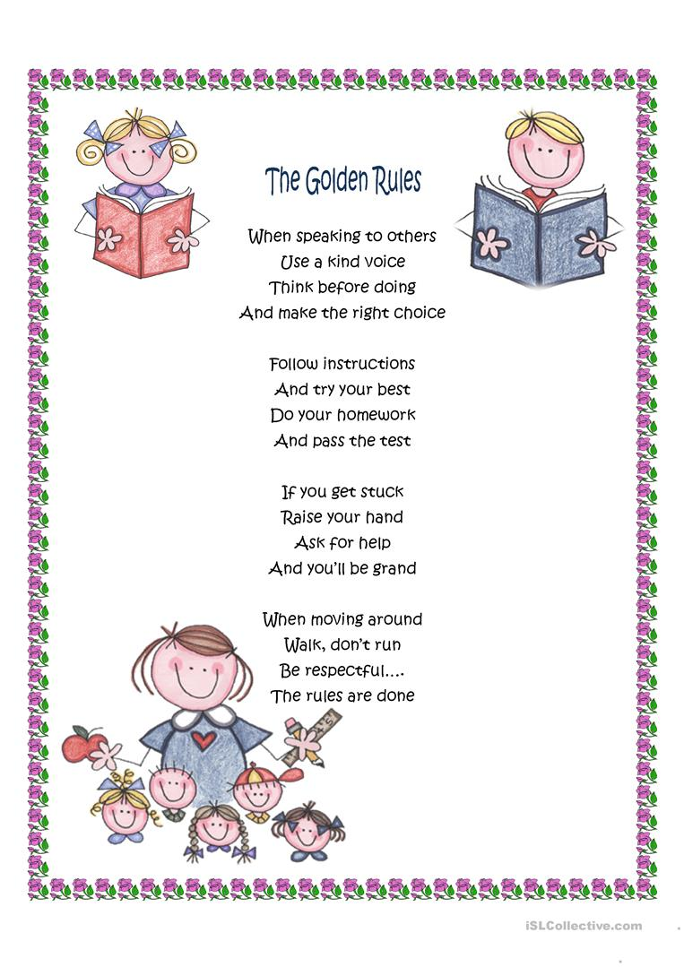 photo about Golden Rule Printable named The Golden Tips - English ESL Worksheets