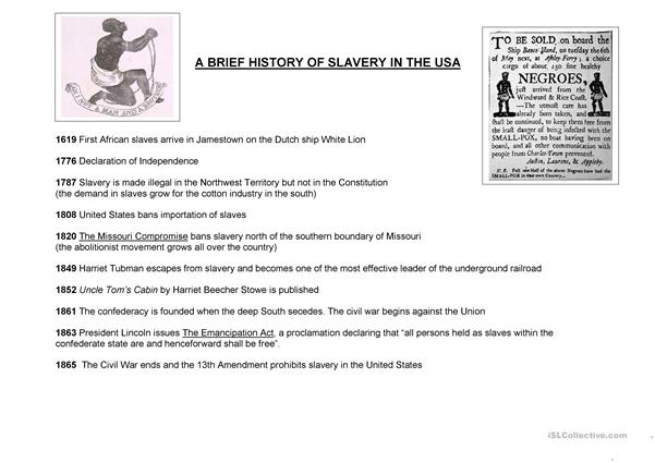 a brief history of slavery in the usa