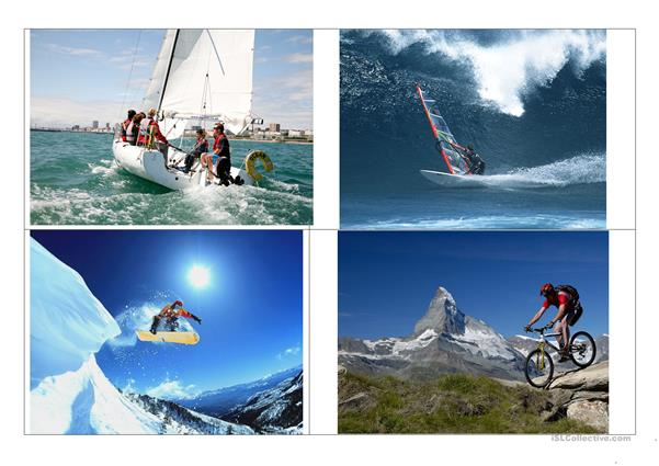 ADVENTURE SPORTS. FLASH CARDS LESSON (1)