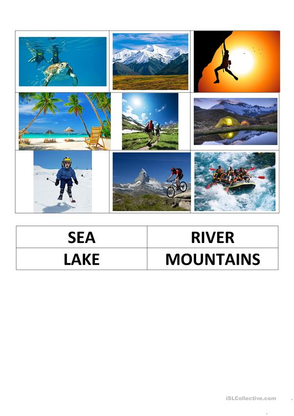ADVENTURE SPORTS. FLASH CARDS LESSON (3)