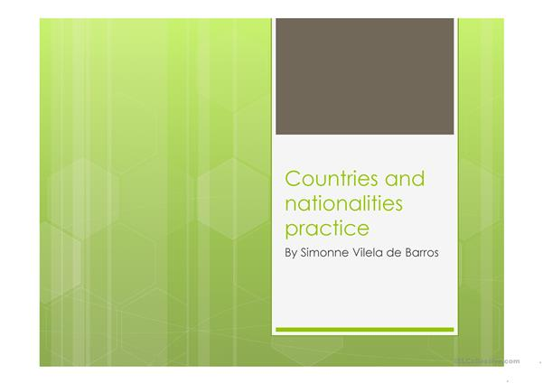 countries and nationalities practice