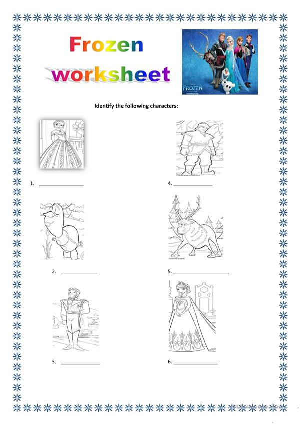 frozen worksheet
