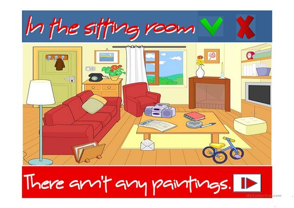 In the sitting room - There is / There are
