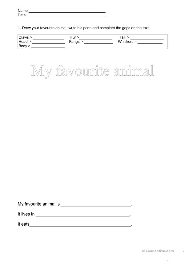 My favourite animal is...