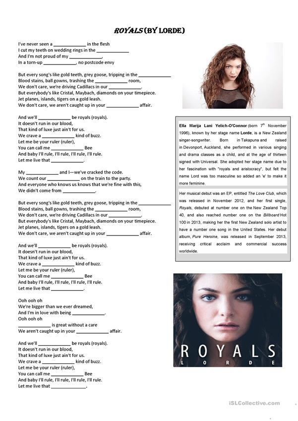 ROYALS (by Lorde)