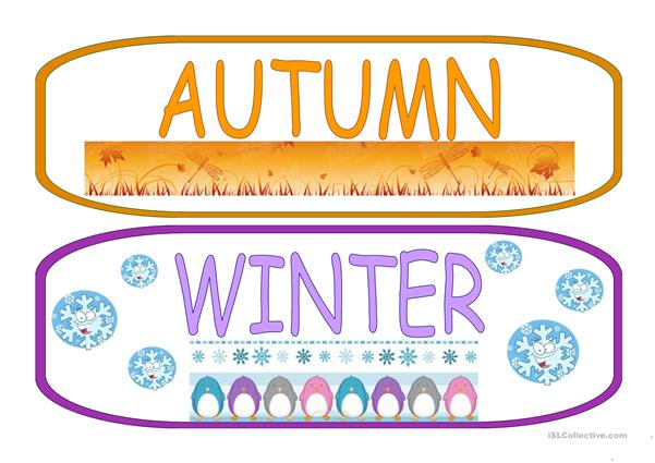 THE SEASONS flashcards