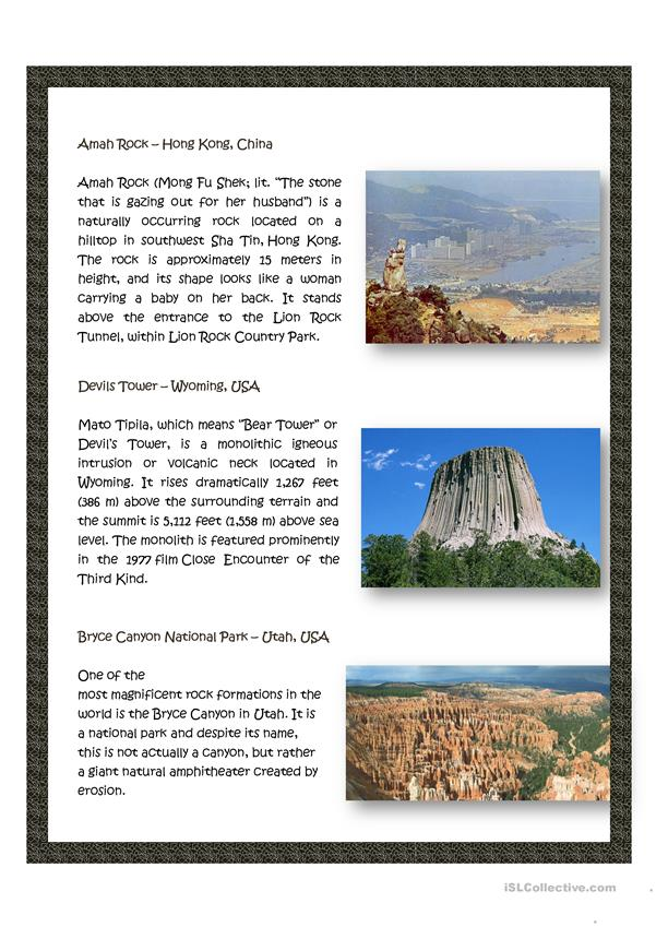 World most amazing rock formations