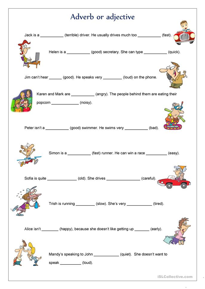 Adverb or adjective worksheet - Free ESL printable worksheets made by teachers