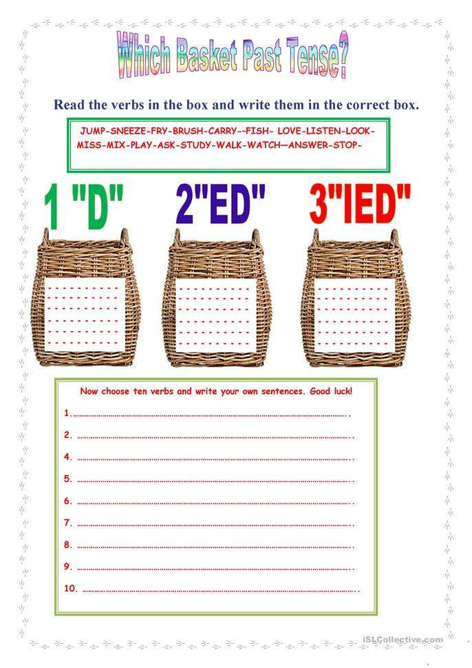 Which basket past tense. - ESL worksheets