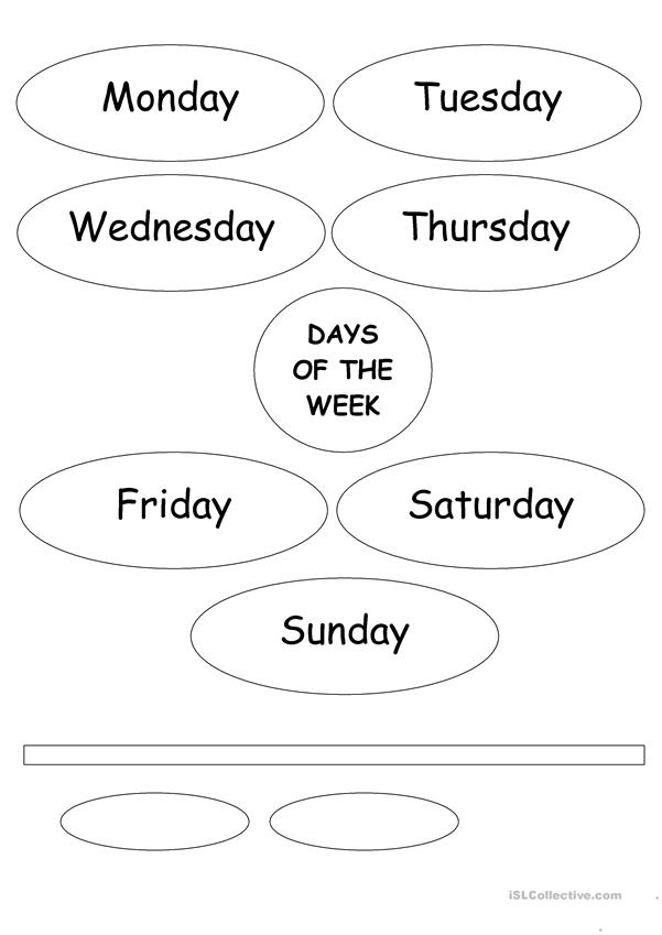 The Days Of The Week Flower - English ESL Worksheets For Distance Learning  And Physical Classrooms