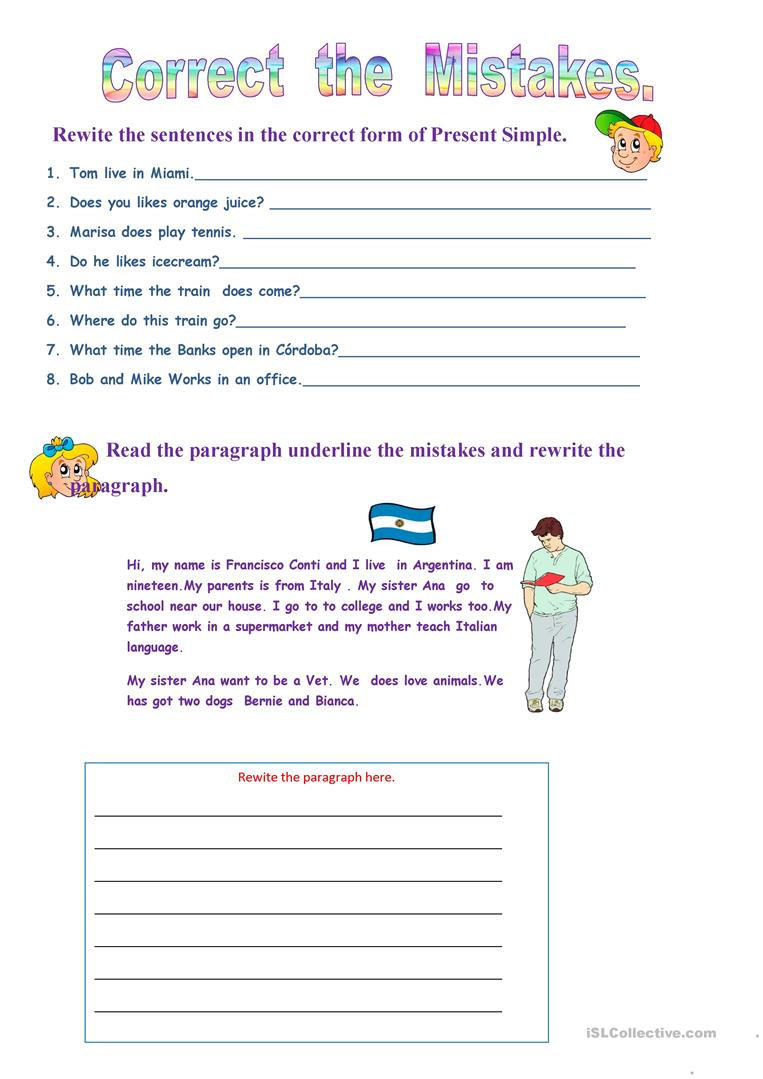 correct the mistakes worksheet free esl printable worksheets made by teachers. Black Bedroom Furniture Sets. Home Design Ideas