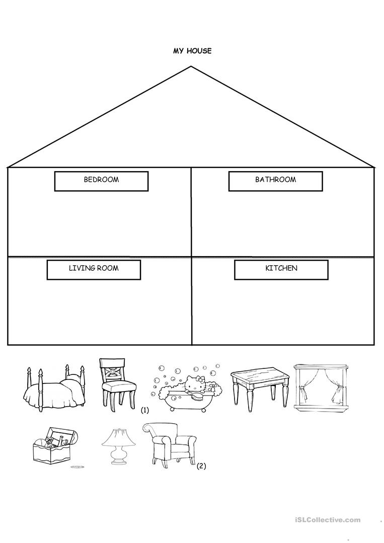 House Cut And Paste Preschool Worksheets House Best Free