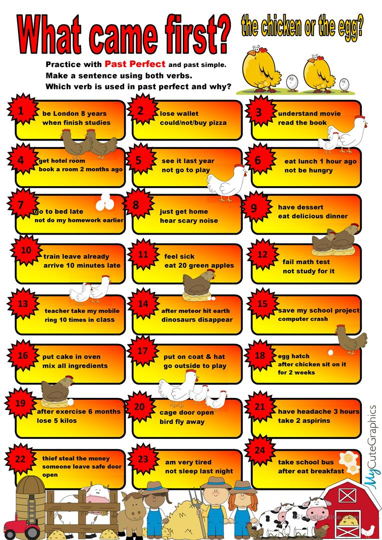 Speaking Cards: Past Tenses - English ESL Worksheets