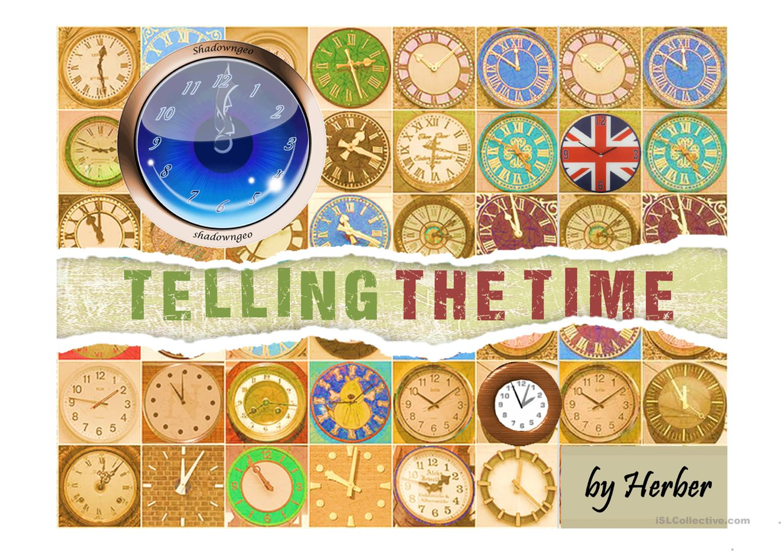 TELLING THE TIME   English ESL Powerpoints for distance learning ...