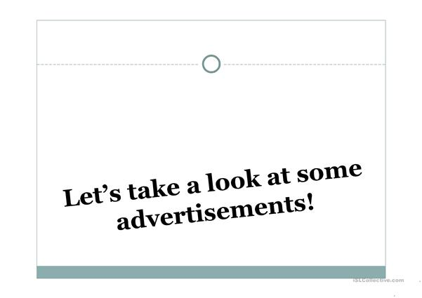 Advertisements Need vs Want