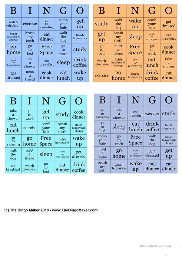 Daily-routines-bingo