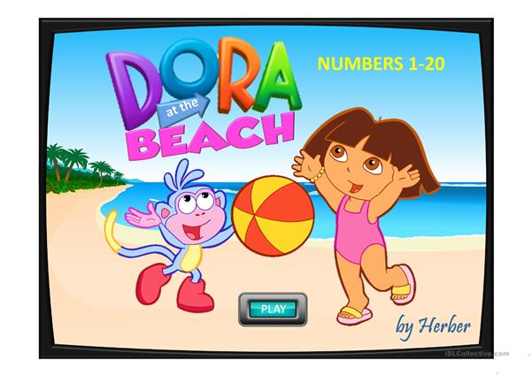 DORA AT THE BEACH
