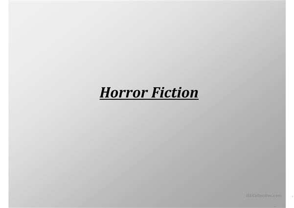 Famous creators of Horror Fiction