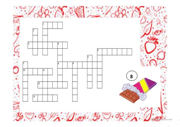 Food crossword puzzle PPT