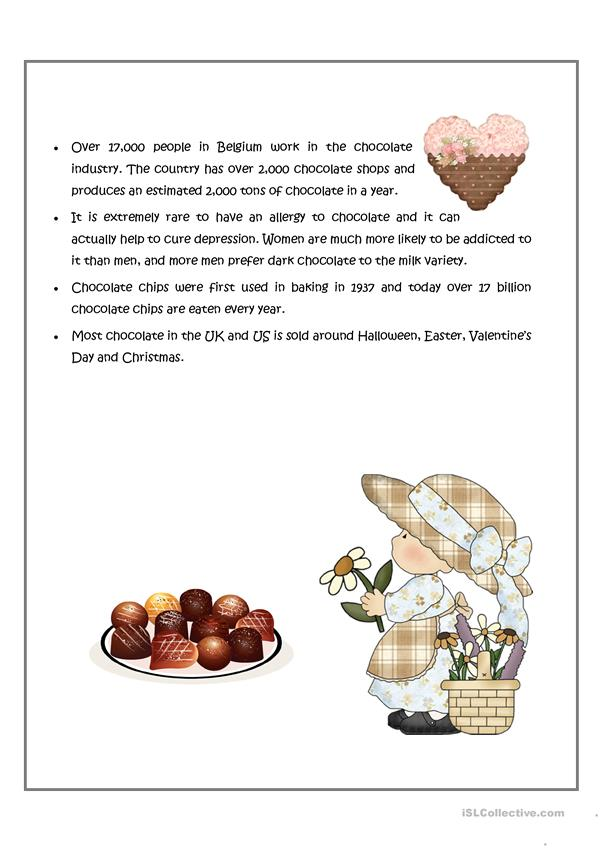 Interesting facts about chocolate