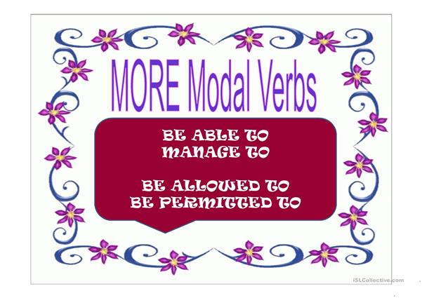 OTHER MODAL VERBS OF PERMISSION AND ABILITIES