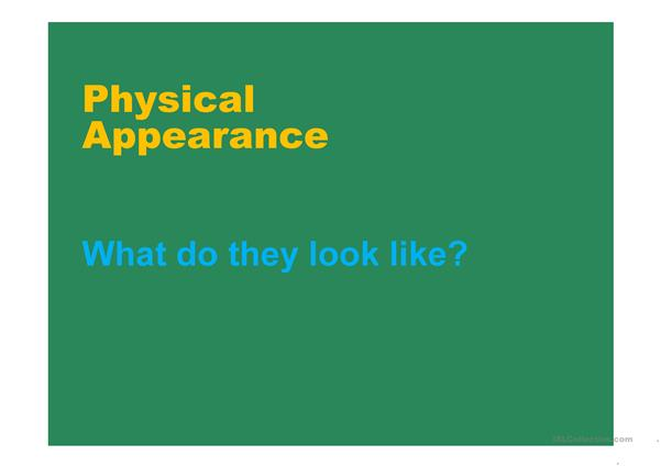 Physical appearance PPT