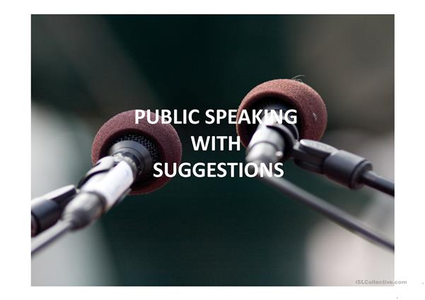 Public Speaking Practice With  Prompts